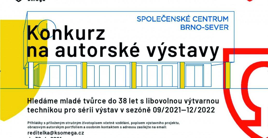 Konkurz na výstavy mladých autorů  ve společenském centru Brno-sever